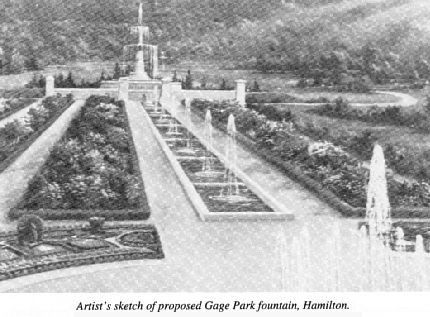 Proposed sketch of Gage Park, Hamilton, Ontario (Gage Park was developed by Thomas B. McQuesten)