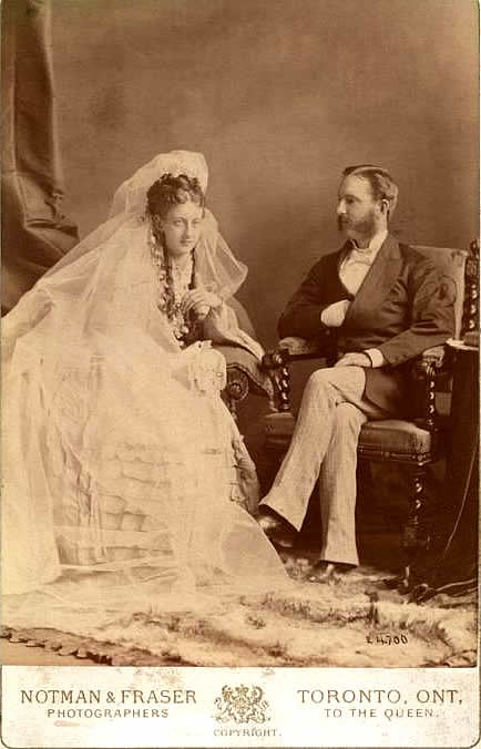 Mary and Isaac on their wedding day, June 18, 1873.